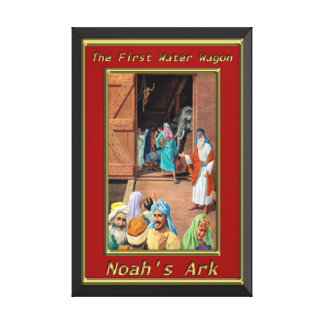 Noah`s Ark People Going Inside The Ship Genesis 6 Canvas Print