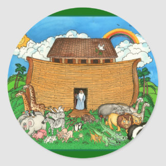 Noah s Ark with Rainbow Sticker