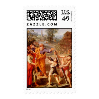 Noah's construction of the Ark Postage