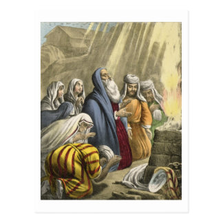 Noah s Sacrifice on Leaving the Ark from a bible Postcard