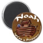 Noah Was A Prepper 2 Inch Round Magnet