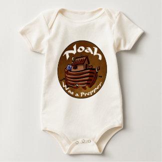Noah Was A Prepper Baby Bodysuit