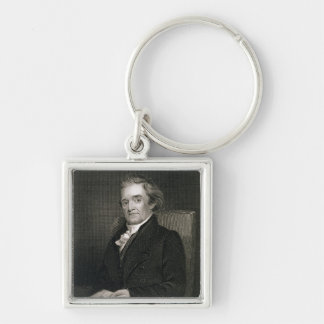 Noah Webster (1758-1843) engraved by Frederick W. Keychain