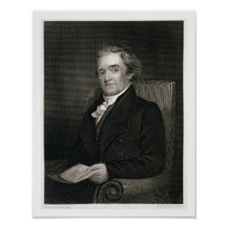 Noah Webster (1758-1843) engraved by Frederick W. Poster