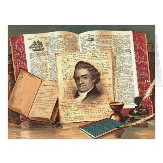 Noah Webster 1885 Tarjeta De Felicitación Grande