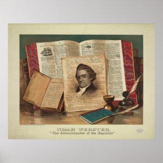 Noah Webster el profesor de la república Poster