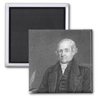 Noah Webster  engraved by G. Parker 2 Inch Square Magnet