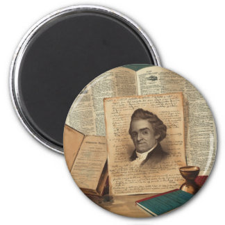 Noah Webster The Schoolmaster of the Republic 2 Inch Round Magnet