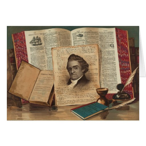 Noah Webster The Schoolmaster of the Republic Greeting Card