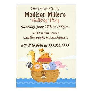 Noah's Arc Birthday Invite