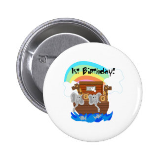 Noah's Ark 1st Birthday Button