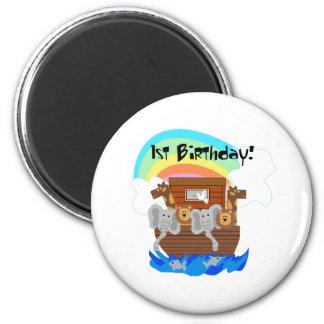 Noah's Ark 1st Birthday Fridge Magnet