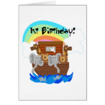 Noah's Ark 1st Birthday Tshirts and Gifts Greeting Cards