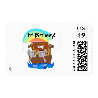 Noah's Ark 1st Birthday Tshirts and Gifts Stamp