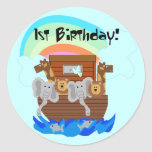 Noah's Ark 1st Birthday Tshirts and Gifts Stickers