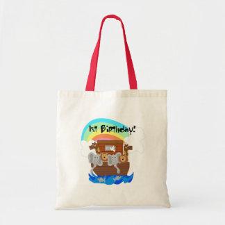 Noah's Ark 1st Birthday Tshirts and Gifts Tote Bag
