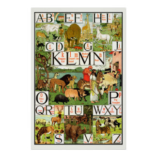 Noahs ark Alphabet ABC Posters for classrooms