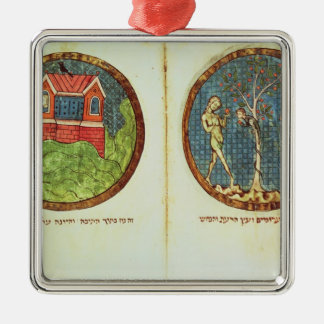 Noah's Ark and Adam and Eve Metal Ornament