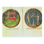 Noah's Ark and Adam and Eve Postcard
