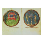 Noah's Ark and Adam and Eve Print