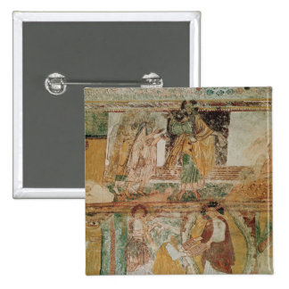 Noah's Ark and Moses 2 Inch Square Button