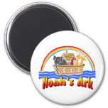 Noah's ark and rainbow 2 inch round magnet