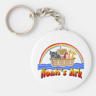 Noah's ark and rainbow keychain