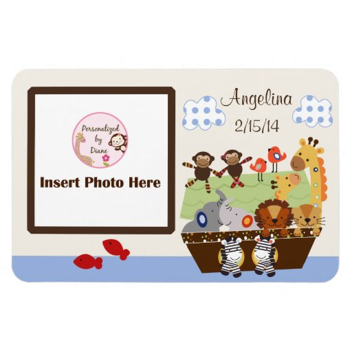 Noah's Ark/Animal Pairs Personalized Photo Magnet