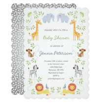 Noah's Ark Animals Baby Shower Invitation