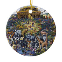 Noahs Ark Animals Ceramic Ornament
