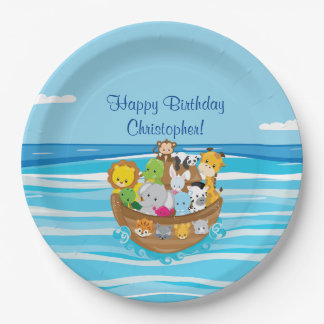 Noah's Ark | Baby Aniamls | Personalized Paper Plate
