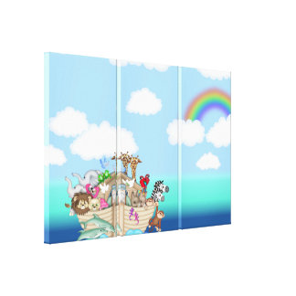 Noah's Ark Baby Nursery Art Wall Canvas