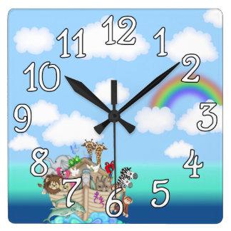 Noahs Ark Baby Nursery Wall Clock