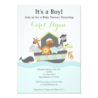Noahu0026#39;s Ark Baby Shower Invitation