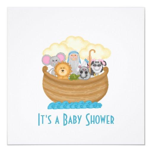 noah 39 s ark baby shower invitation zazzle