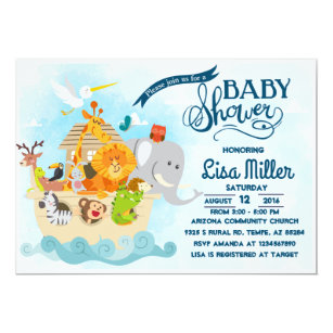 Noah S Ark Baby Shower Invitation
