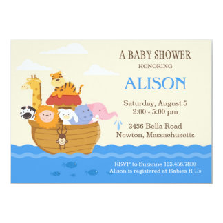 Noah's Ark Baby Shower Invite