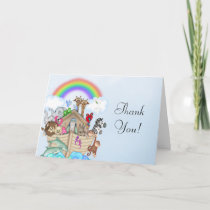 Noah's Ark Baby Shower Thank You Card