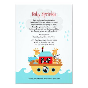 Noahs Ark Baby Shower Invitations Announcements Zazzle