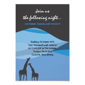 Noah's Ark Bar Bat Mitzvah Reception Party card