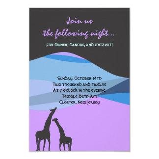 Noah's Ark Bar Bat Mitzvah Reception Party card Announcement