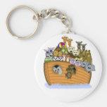 Noah's Ark Basic Round Button Keychain