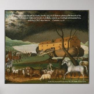 Noah's Ark Bible Scripture Art Print