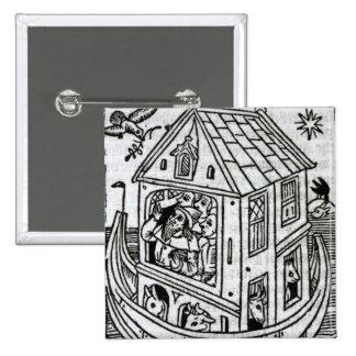 Noah's Ark 2 Inch Square Button
