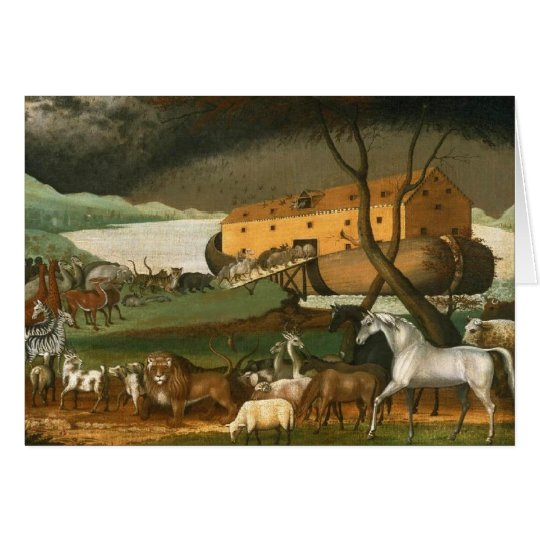 Noah's Ark by Edward Hicks - 1846 Card