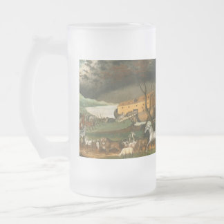 Noah's Ark by Edward Hicks - 1846 Frosted Glass Beer Mug