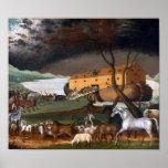 Noah's Ark by Edward Hicks - Circa 1846 Poster