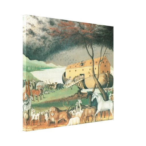 Noah's Ark by Edward Hicks, Victorian Era Animals Canvas Print