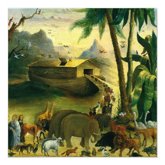Noah's Ark by Hidley, Vintage Birthday Party Card