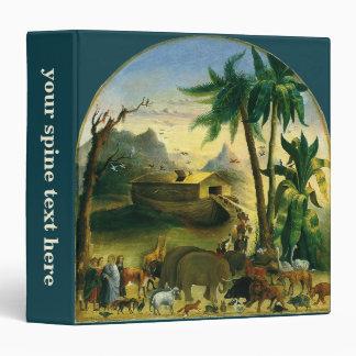 Noah's Ark by Hidley, Vintage Victorian Folk Art 3 Ring Binder